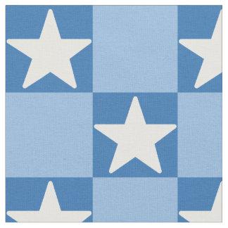 Cute star checkerboard pattern fabric