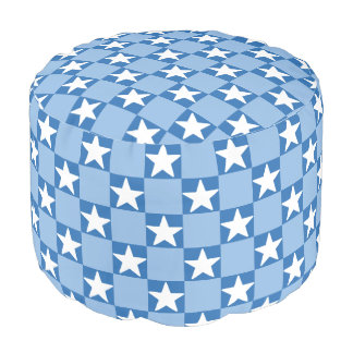 Cute star checkerboard pattern pouf