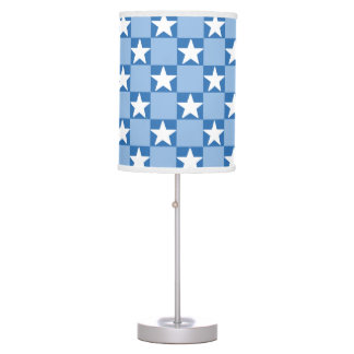 Cute star checkerboard pattern table lamp