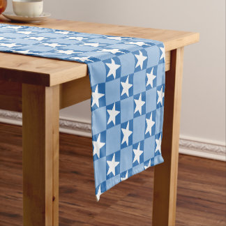 Cute star chequerboard pattern short table runner