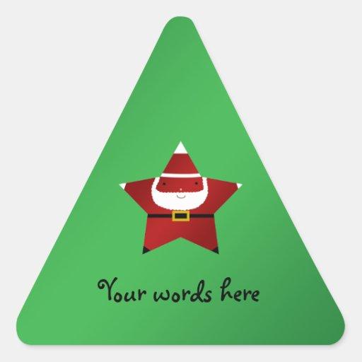 Cute star santa claus stickers
