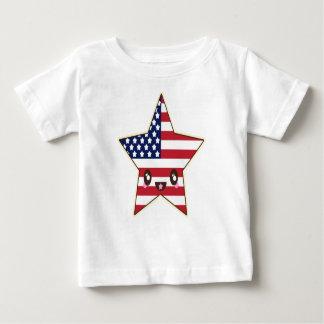Cute Star Shaped U.S.A. Flag - American Star Baby T-Shirt