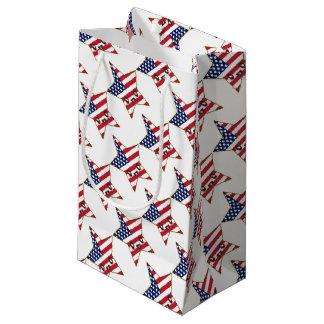 Cute Star Shaped U.S.A. Flag - American Star Small Gift Bag