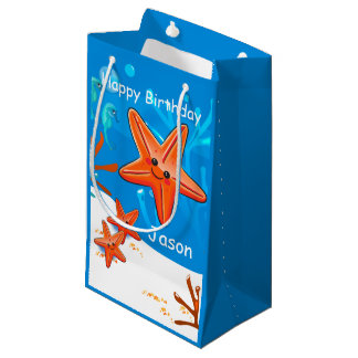 Cute Starfish Ocean Aquatic Birthday Sml Gift Bag
