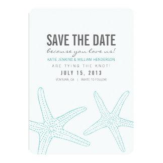 "Cute Starfish Save the Date Card 5"" X 7"" Invitation Card"
