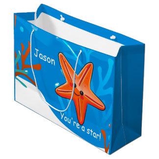 Cute Starfish Star Ocean Custom Lg Gift Bag