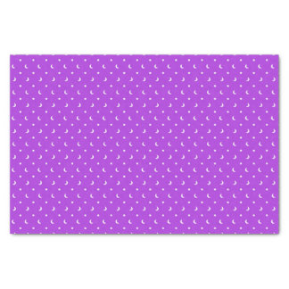 Cute Stars and Moons on Purple Pattern Tissue Paper