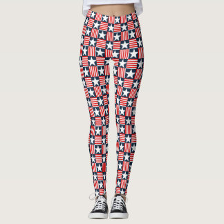 Cute stars and stripes leggings