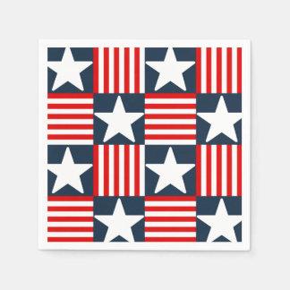 Cute stars and stripes napkin