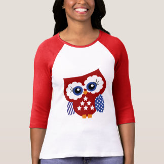 Cute Stars and Stripes Patriotic Owl T-Shirt