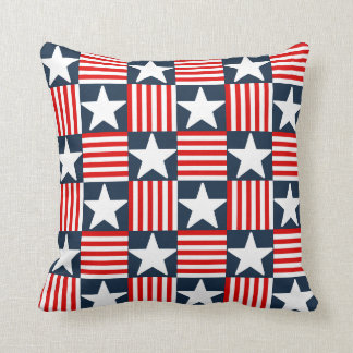 Cute stars and stripes throw pillow