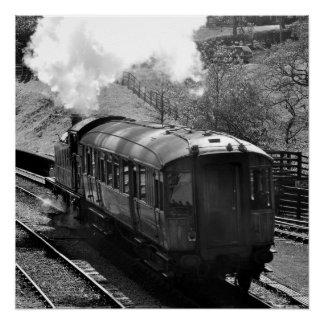 Cute Steam Train Poster