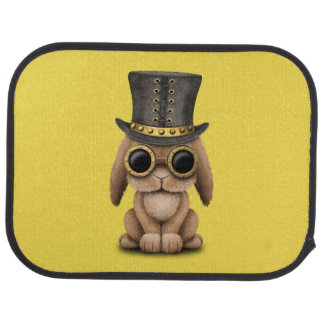 Cute Steampunk Baby Bunny Rabbit Car Mat