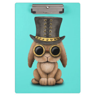 Cute Steampunk Baby Bunny Rabbit Clipboard