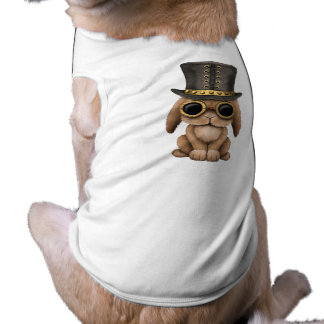 Cute Steampunk Baby Bunny Rabbit Dog Tee Shirt