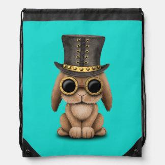 Cute Steampunk Baby Bunny Rabbit Drawstring Bag