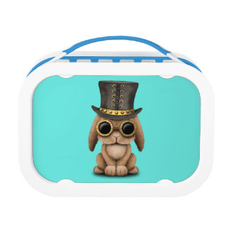 Cute Steampunk Baby Bunny Rabbit Lunch Box