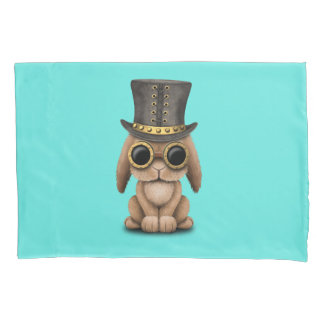 Cute Steampunk Baby Bunny Rabbit Pillowcase