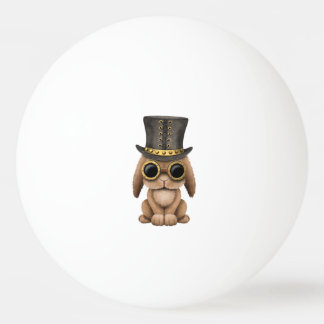 Cute Steampunk Baby Bunny Rabbit Ping Pong Ball
