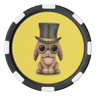 Cute Steampunk Baby Bunny Rabbit Poker Chips
