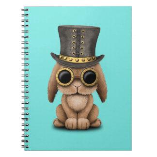 Cute Steampunk Baby Bunny Rabbit Spiral Notebook