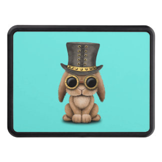Cute Steampunk Baby Bunny Rabbit Tow Hitch Cover