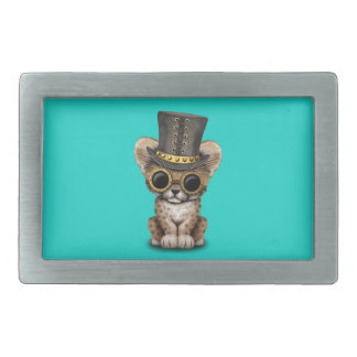 Cute Steampunk Baby Cheetah Cub Belt Buckle