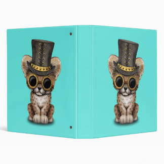 Cute Steampunk Baby Cheetah Cub Binder