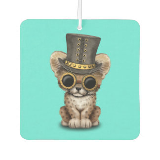 Cute Steampunk Baby Cheetah Cub Car Air Freshener