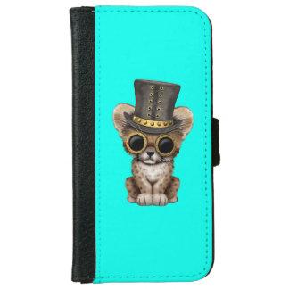 Cute Steampunk Baby Cheetah Cub iPhone 6 Wallet Case