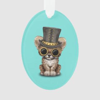Cute Steampunk Baby Cheetah Cub Ornament