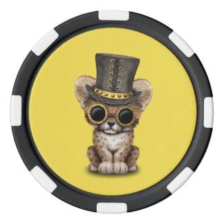 Cute Steampunk Baby Cheetah Cub Poker Chips