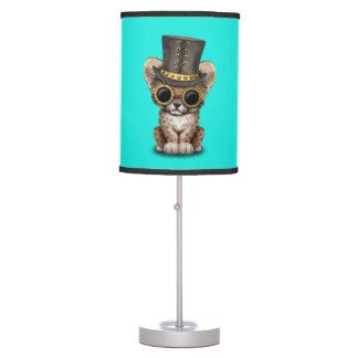 Cute Steampunk Baby Cheetah Cub Table Lamp