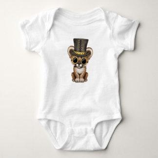 Cute Steampunk Baby Cougar Cub Baby Bodysuit