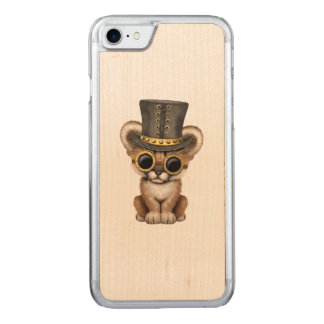 Cute Steampunk Baby Cougar Cub Carved iPhone 8/7 Case
