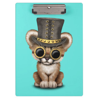 Cute Steampunk Baby Cougar Cub Clipboard