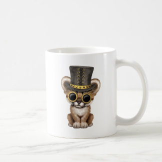 Cute Steampunk Baby Cougar Cub Coffee Mug