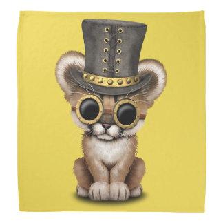 Cute Steampunk Baby Cougar Cub Head Kerchief