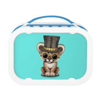 Cute Steampunk Baby Cougar Cub Lunch Box