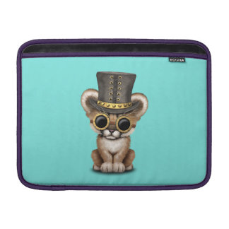 Cute Steampunk Baby Cougar Cub MacBook Sleeve