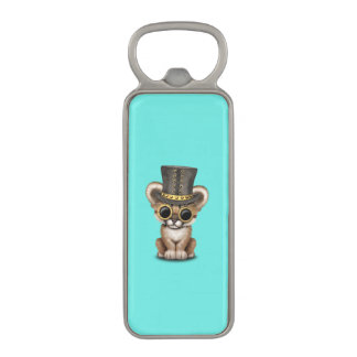 Cute Steampunk Baby Cougar Cub Magnetic Bottle Opener