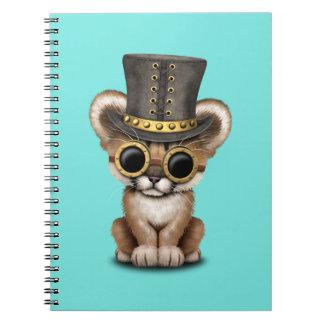 Cute Steampunk Baby Cougar Cub Notebooks
