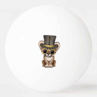 Cute Steampunk Baby Cougar Cub Ping Pong Ball