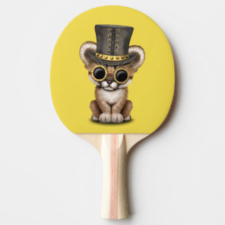 Cute Steampunk Baby Cougar Cub Ping Pong Paddle