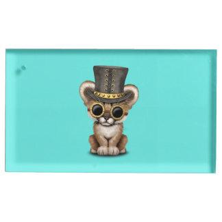 Cute Steampunk Baby Cougar Cub Table Card Holder