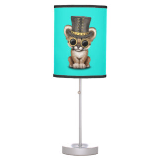 Cute Steampunk Baby Cougar Cub Table Lamp
