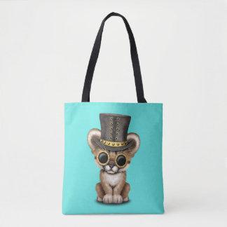 Cute Steampunk Baby Cougar Cub Tote Bag