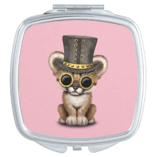Cute Steampunk Baby Cougar Cub Travel Mirror
