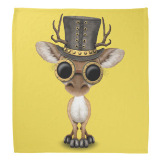 Cute Steampunk Baby Deer Bandana