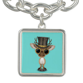 Cute Steampunk Baby Deer Bracelets